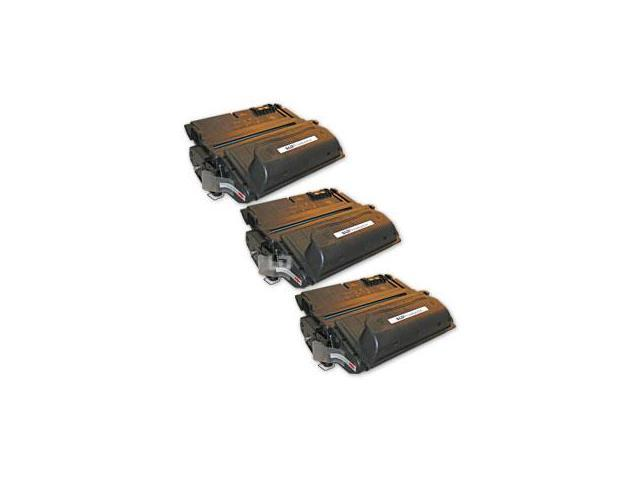 LD © Remanufactured Replacement Laser Toner Cartridges for Hewlett Packard Q1338A (HP 38A) Black (3 Pack)