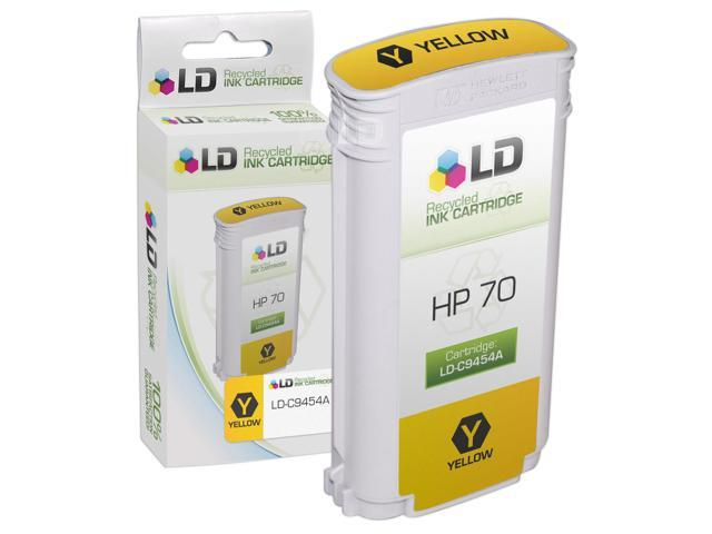LD © Remanufactured Replacement Ink Cartridge for Hewlett Packard C9454A (HP 70) Yellow