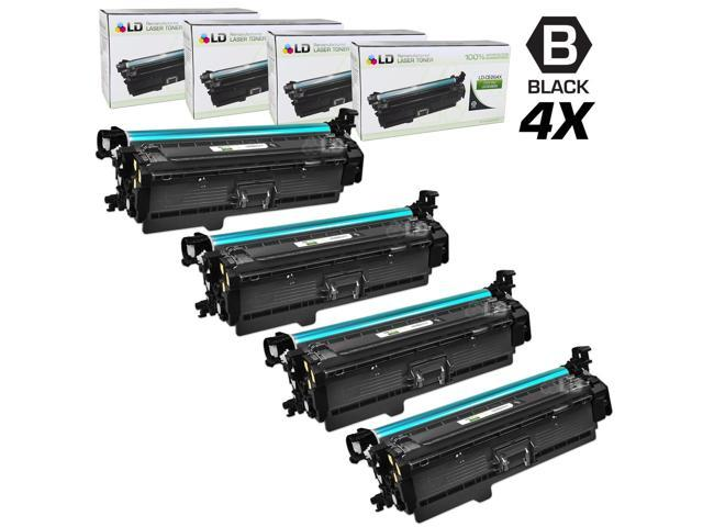LD © Remanufactured Replacement Laser Toner Cartridges for Hewlett Packard CE264X (HP 646X) High-Yield Black (4 Pack)