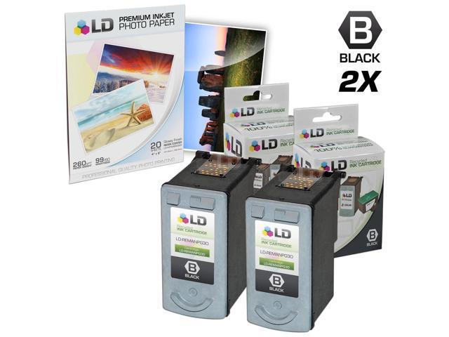 LD Remanufactured Canon PG30 Set Of 2 Black Inkjet Cartridges