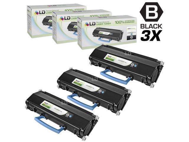 LD © Compatible Lexmark E460X11A Set of 3 Extra High Yield Black Laser Toner Cartridges for E460 Printers