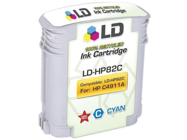 LD © Remanufactured Replacement for Hewlett Packard C4911A (HP 82) Cyan Inkjet Cartridge for use in HP cc800ps, 500, 500PS, 510, 800, 800PS, 815MFP, and 820MFP Printers