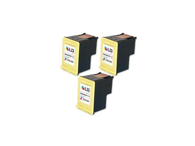 LD © Remanufactured Replacement Ink Cartridges for Hewlett Packard CB304AN (HP 110) Tri-Color (3 Pack)