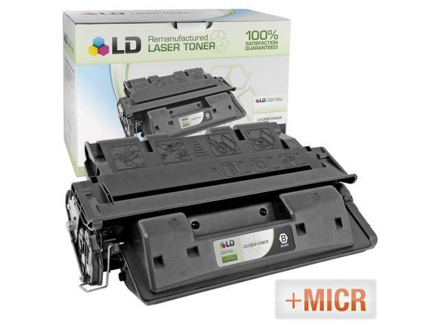 LD © (MICR Toner) Remanufactured Replacement Laser Toner Cartridge for Hewlett Packard C8061X (HP 61X) Black