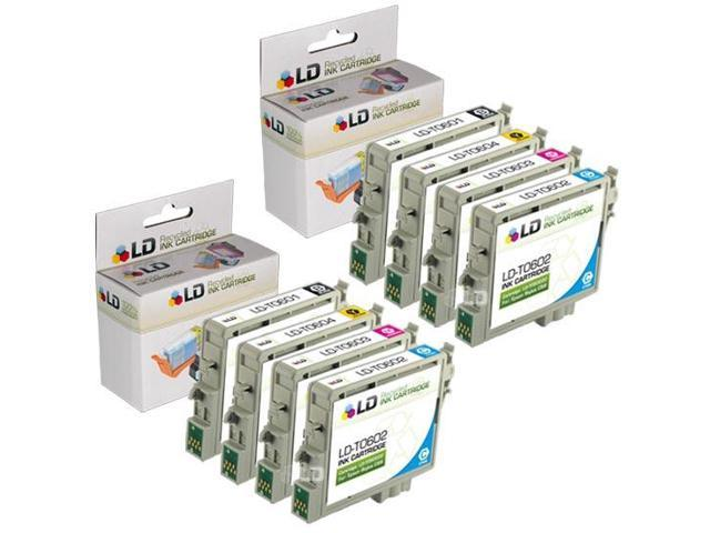 LD © Epson Remanufactured C88, CX4200, CX4800, and CX7800 Set of 8 Ink Cartridges: 2 Black T060120 & 2 of each Cyan T060220 / Magenta T060320 / Yellow T060420