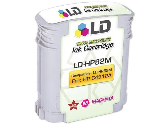 LD © Remanufactured Replacement for Hewlett Packard C4912A (HP 82) Magenta Inkjet Cartridge for use in HP cc800ps, 500, 500PS, 510, 800, 800PS, 815MFP, and 820MFP Printers