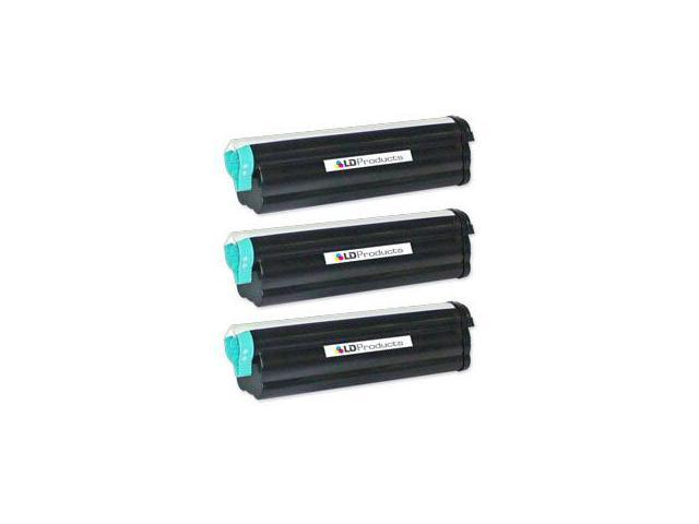 LD © Compatible Okidata 43502001 Set of 3 High Yield Black Laser Toner Cartridges for use in the B4550, B4550n, B4600, B4600n PS Printers