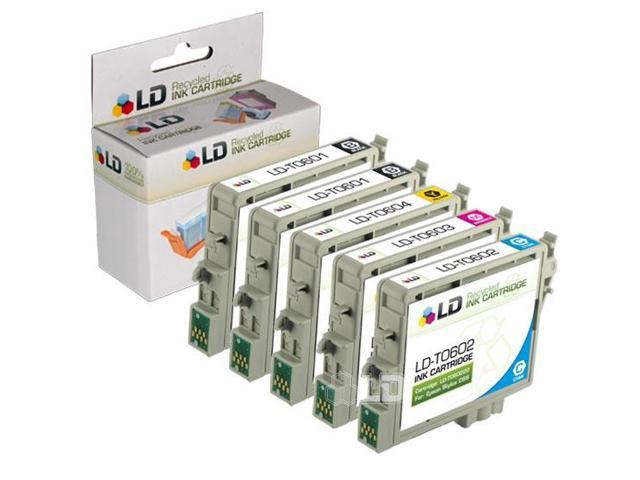 LD © Epson Remanufactured C88, CX4200, CX4800, and CX7800 Set of 5 Ink Cartridges: 2 Black T060120 & 1 of each Cyan T060220 / Magenta T060320/ Yellow T060420