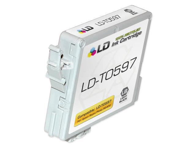 LD © Remanufactured Replacement for Epson T059720 (T0597) Light Black Pigment Based Ink Cartridges for the Stylus Photo R2400