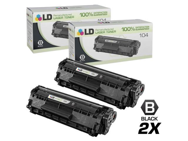 LD Remanufactured Canon 0263B001A 104 Set Of 2 Black