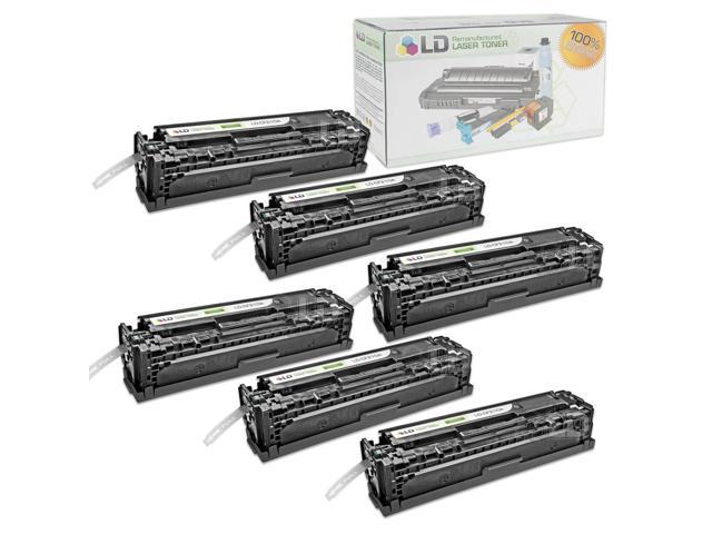 LD © Remanufactured Replacement for Hewlett Packard CF210A (HP 131A) Set of 6 Black Laser Toner Cartridges for use in HP ...