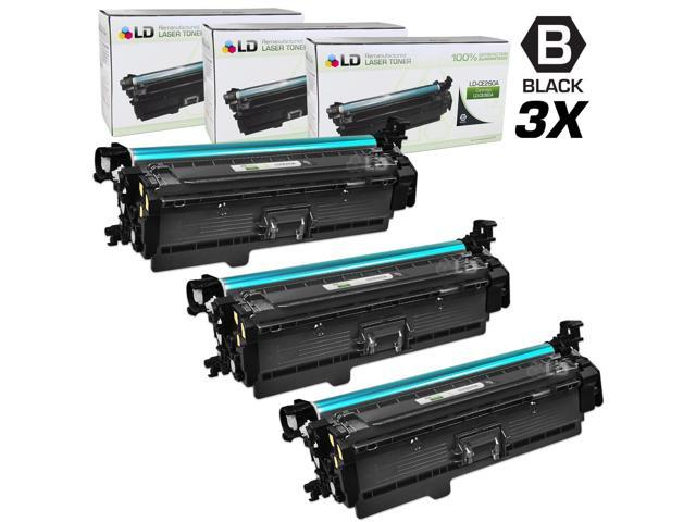 LD Remanufactured Replacement for Hewlett Packard CE260A (HP 647A) Black Laser Toner Cartridge (3 Pack) for the HP Color ...