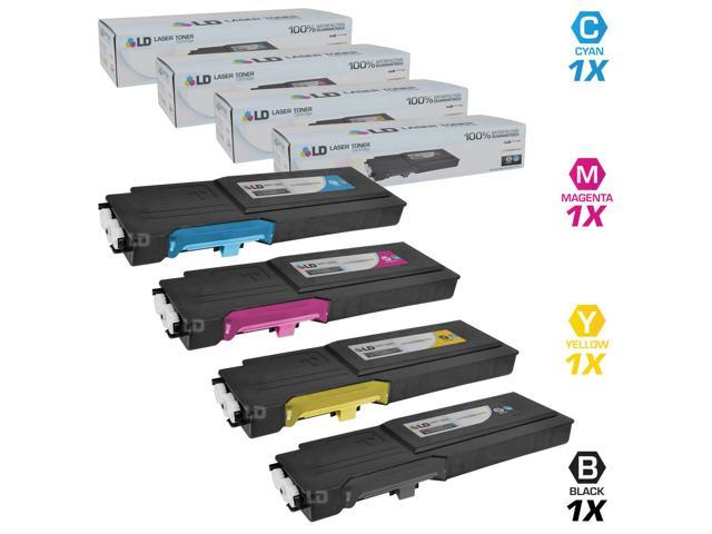 LD © Dell Compatible C2660/C2665dnf Set of 4 High Yield Toner Cartridges Includes: 1 593-BBBU Black, 1 593-BBBT Cyan, 1 593-BBBS ...