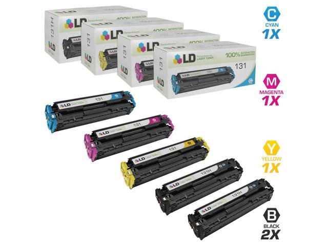 LD Remanufactured Replacements For Canon 131H131 5PK Toner