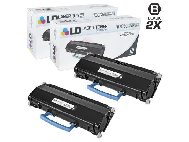 LD © Compatible Lexmark X203A11G Set of 2 Black Laser Toner Cartridges for use in the X204N Printer