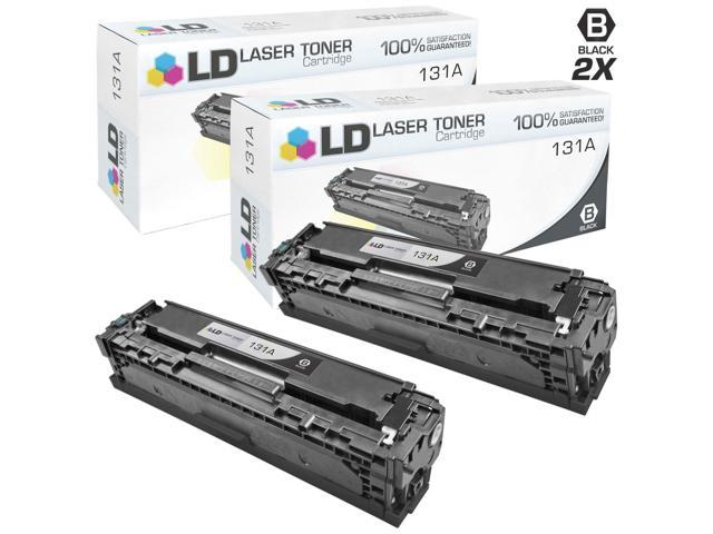LD © Remanufactured Replacement for Hewlett Packard CF210A (HP 131A) Set of 2 Black Laser Toner Cartridges for use in HP ...