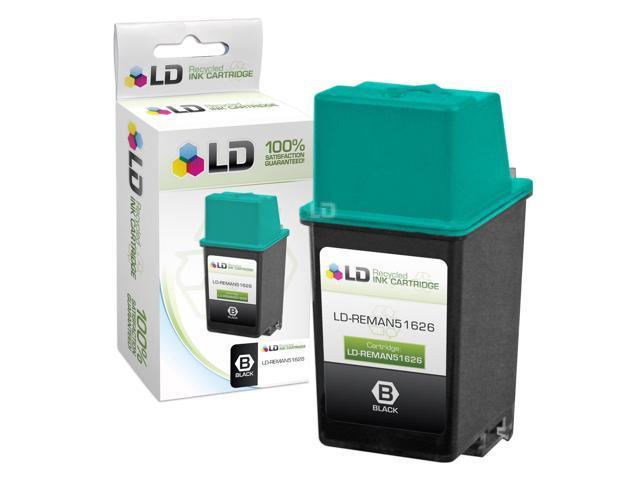 LD © Remanufactured Replacement for Hewlett Packard 51626A (HP 26) Black Ink Cartridge for HP Apollo, DesignJet, Deskjet, DeskWriter, & OfficeJet Printers