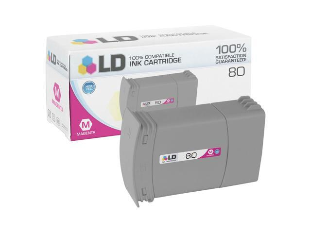LD © Remanufactured Replacement Ink Cartridge for Hewlett Packard C4847A 80XL / 80 High-Yield Magenta