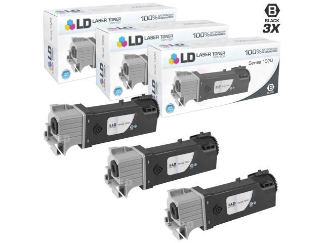 LD © Compatible Dell KU052 (310-9058) Set of 3 High Yield Black Toner Cartridges for 1320/1320C Printers
