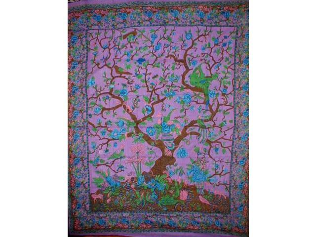 Tree of Life Tapestry Cotton Bedspread 108