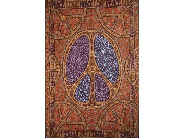 Peace Sign Cotton Wall Hanging 90