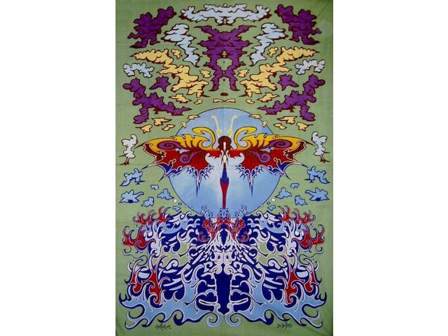 Psychedelic Dragonfly Cotton Wall Hanging 90