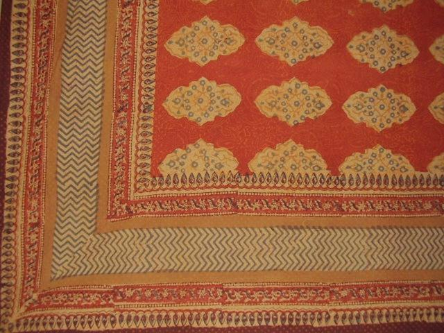 Kensington Block Print Tapestry Cotton Bedspread 108