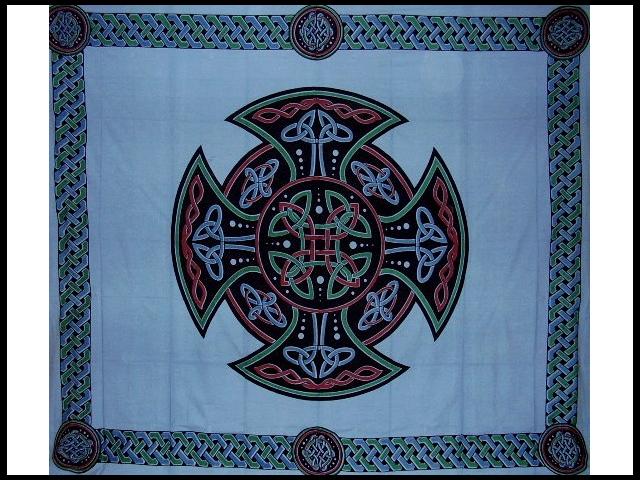 Celtic Cross Tapestry Cotton Bedspread 104