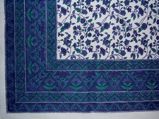 Fleur De Lis Cotton Tablecloth 90