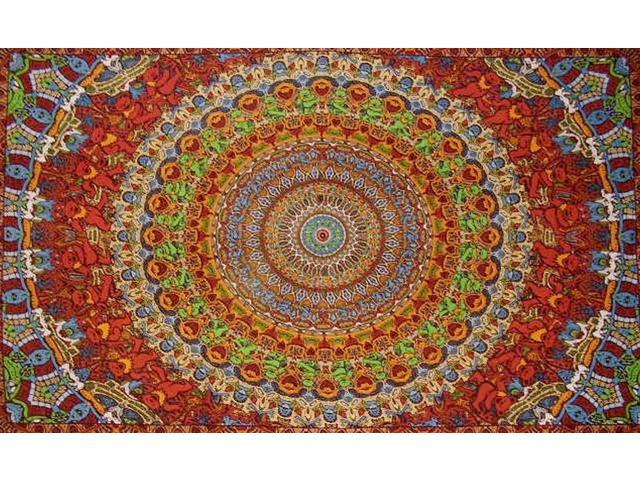 "Grateful Dead Dancing Bears Tapestry Cotton Wall Hanging 90"" x 60"" Single Multi Color"
