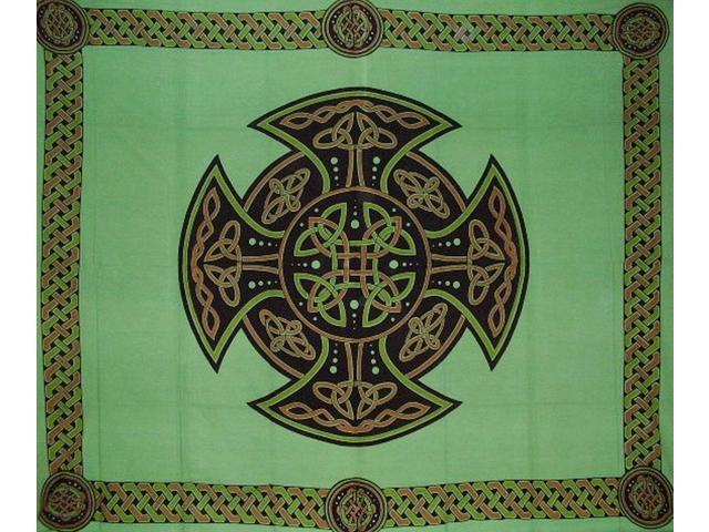 Celtic Cross Tapestry Cotton Bedspread 104