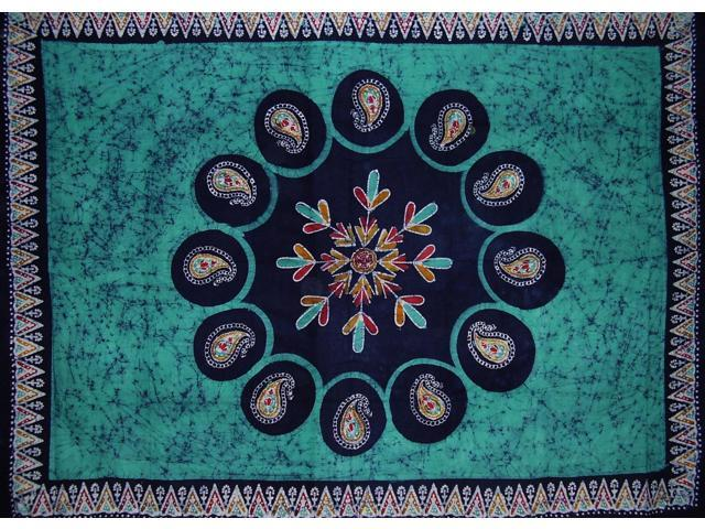 Batik Tapestry Cotton Wall Hanging or Tablecloth 90