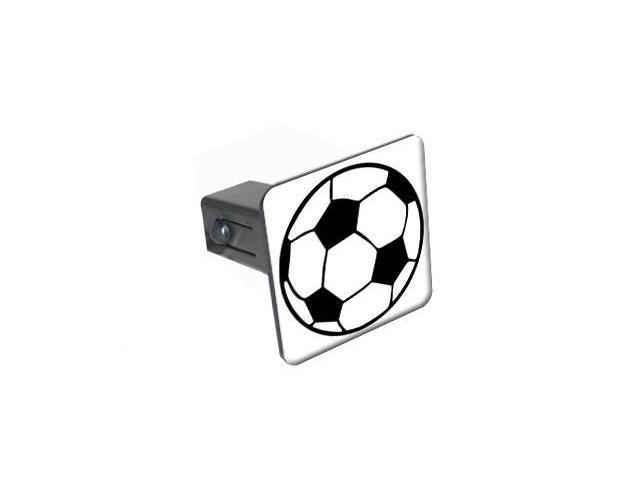 """Soccer Ball - 1.25"""" Tow Trailer Hitch Cover Plug Insert"""