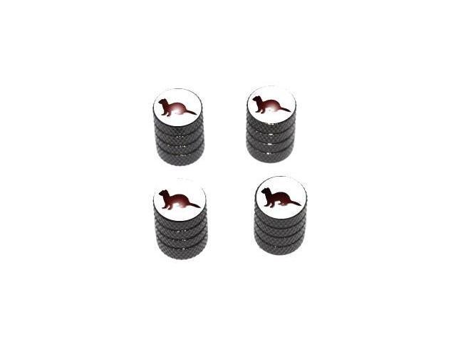 Ferret - Tire Rim Valve Stem Caps - Black