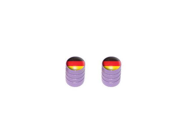 German Flag - Tire Rim Valve Stem Caps - Motorcycle Bike Bicycle - Purple