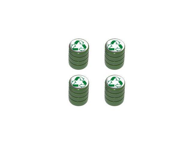 Recycle - Conservation Tire Rim Valve Stem Caps - Green