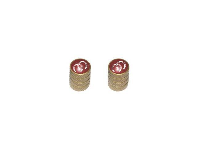 Horseshoes - Horse Tire Rim Valve Stem Caps - Motorcycle Bike Bicycle - Gold