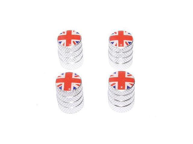 Great Britain Flag - British Valve Stem Caps - Aluminum