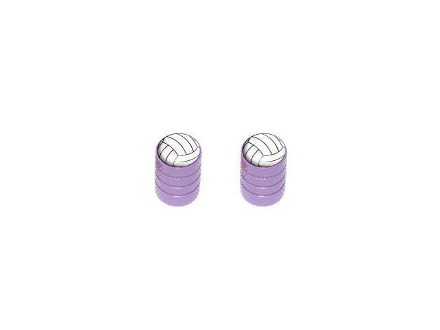Volleyball - Sport Tire Rim Valve Stem Caps - Motorcycle Bike Bicycle - Purple