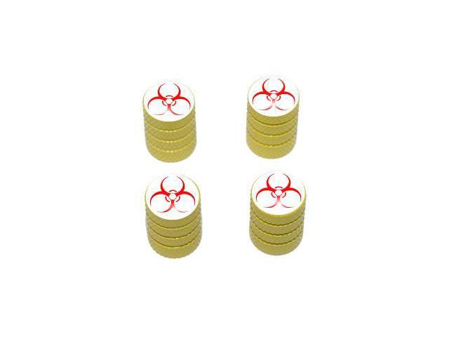Biohazard - Zombie Tire Rim Valve Stem Caps - Yellow