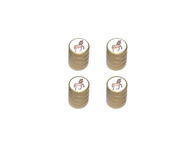 Unicorn - Fantasy - Tire Rim Wheel Valve Stem Caps - Gold