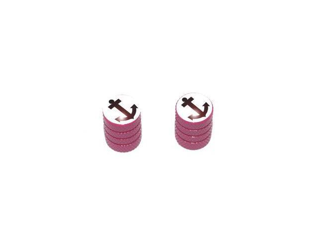 Anchor Boat - Tire Rim Valve Stem Caps - Motorcycle Bike Bicycle - Pink