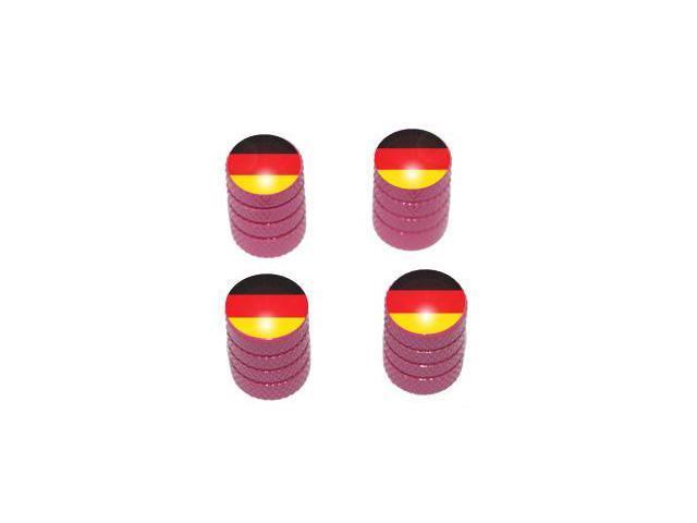 German Flag - Tire Rim Valve Stem Caps - Pink