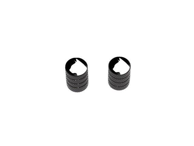 Cat Silhouette - Tire Rim Valve Stem Caps - Motorcycle Bike Bicycle - Black