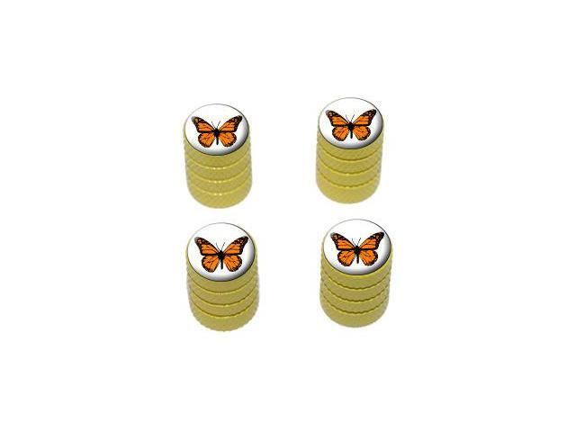 Monarch Butterfly - Tire Rim Valve Stem Caps - Yellow