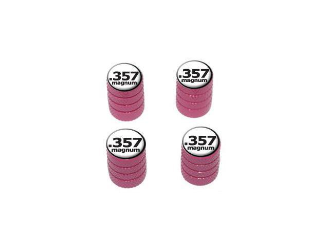 357 Magnum Gun Weapon Bullet - Tire Rim Valve Stem Caps - Pink
