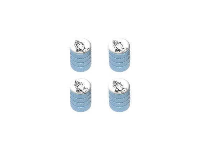 Praying Hands Religious - Tire Rim Valve Stem Caps - LtBlue
