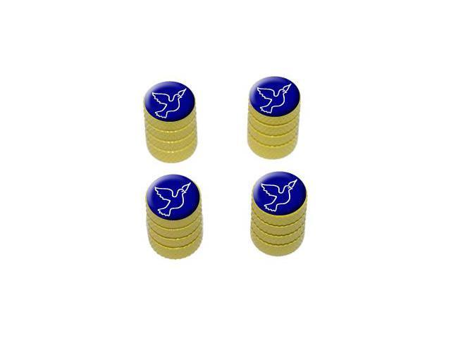 Peace Dove - Tire Rim Valve Stem Caps - Yellow