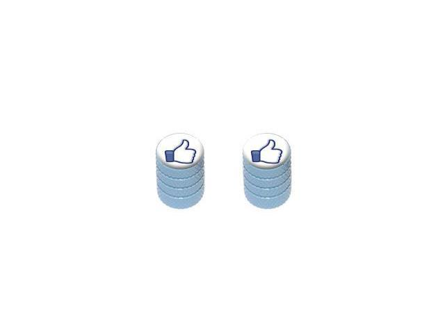 You Like This - Facebook - Tire Rim Valve Stem Caps - Motorcycle Bike Bicycle - LtBlue