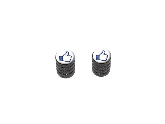 You Like This - Facebook - Tire Rim Valve Stem Caps - Motorcycle Bike Bicycle - Black